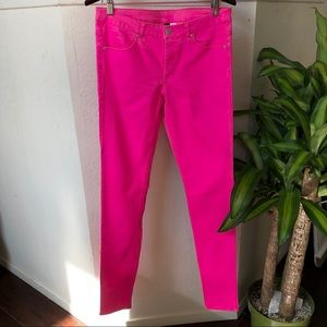 🌵3/25 H&M/ Divided Hot Pink Jeggings Size 12